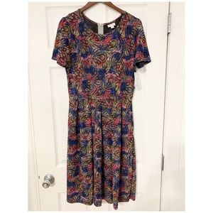 NWT LulaRoe Amelia Gorgeous Gem Print Dress